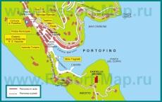 Подробная карта курорта Портофино