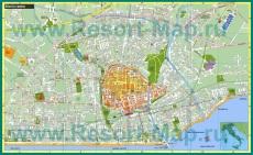 Туристическая карта Римини с магазинами