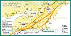 Подробная карта города Сан-Ремо
