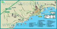 Туристическая карта Сан-Ремо с достопримечательностями