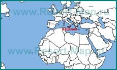 Остров Сицилия на карте мира