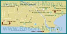 Карта отелей Террачины с достопримечательностями