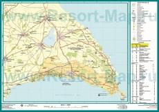 Карта окрестностей Айя-Напы с достопримечательностями