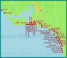 Карта отелей Ларнаки