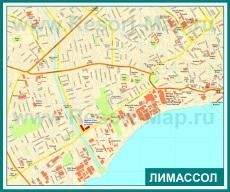 Карта центра города Лимассол
