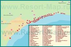 Карта отелей Лимассола