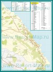 Подробная карта курорта Протарас с отелями