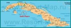 Кайо-Ларго на карте Кубы