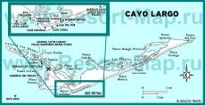 Подробная карта Кайо Ларго с отелями