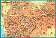 Подробная карта города Сантьяго-де-Куба