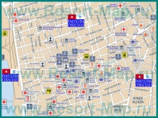 Туристическая карта Сантьяго-де-Куба с достопримечательностями