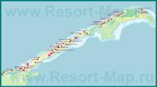 Карта отелей Варадеро
