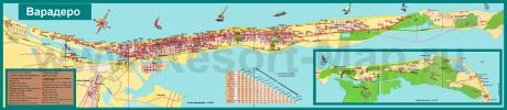 Подробная карта Варадеро с достопримечательностями