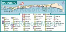 Туристическая карта курорта Варадеро
