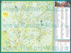 Подробная карта города Куала-Лумпур с достопримечательностями