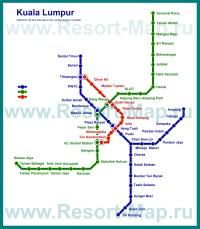 Схема - карта метро Куала-Лумпура