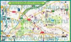 Туристическая карта центра Куала-Лумпура