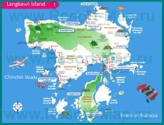 Подробная карта острова Лангкави