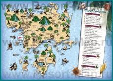 Туристическая карта Лангкави