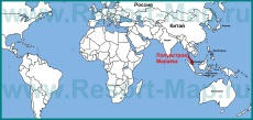 Полуостров Малакка на карте мира