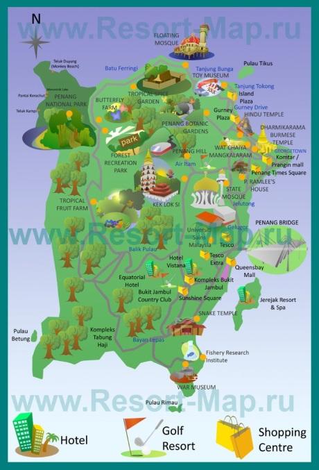 Туристическая карта Пенанга