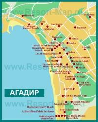 Карта отелей Агадира