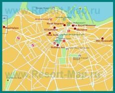 Карта отелей Касабланки