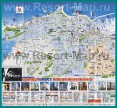 Подробная карта города Касабланка