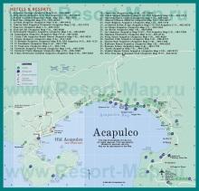 Карта Акапулько с отелями