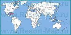 Канкун на карте мира