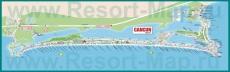 Подробная карта Канкуна