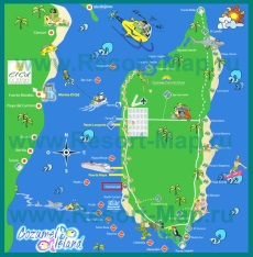 Туристическая карта острова Косумель