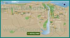 Карта Дубая с отелями и районами