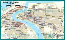 Карта города Дубай с отелями
