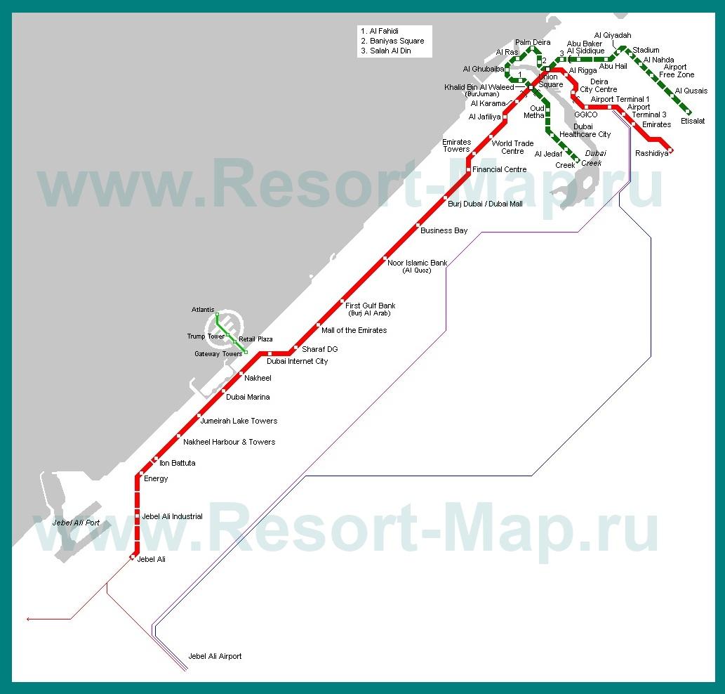Метро в Дубае – обзор, время работы, цена проезда, карта и схема ... | 988x1033
