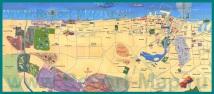 Подробная карта Дубая с достопримечательностями