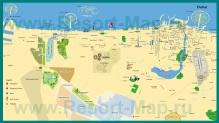 Туристическая карта Дубая с отелями и достопримечательностями