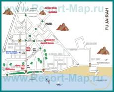 Подробная карта курорта Фуджейра