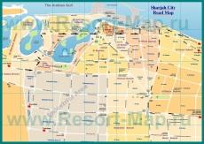 Карта города Шарджа