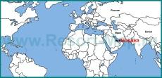 Шарджа на карте мира