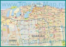 Туристическая карта Шарджи с достопримечательностями