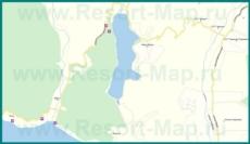 Подробная карта Абрау Дюрсо с улицами и домами