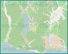 Подробная карта курорта Абрау Дюрсо