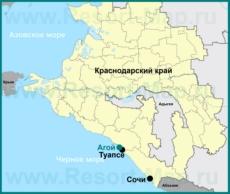 Агой на карте Краснодарского края