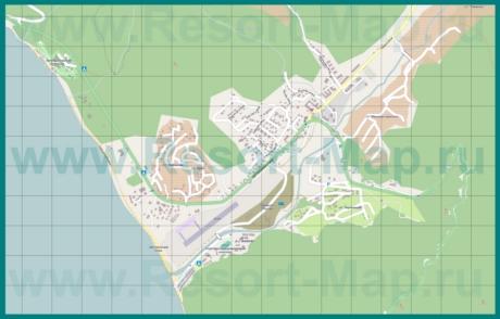 АПодробная карта курорта Агой