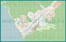 Подробная карта курорта Агой