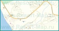 Подробная карта поселка Агой с улицами и домами