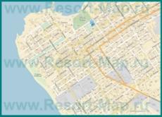 Подробная карта Анапы с улицами и номерами домов