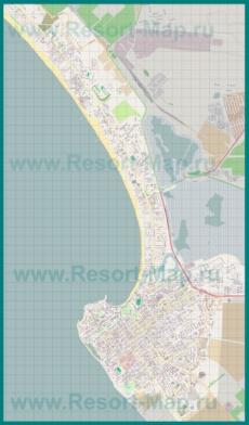 Подробная карта Анапы и окрестностей
