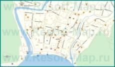 Подробная карта Архипо-Осиповки с улицами и домами